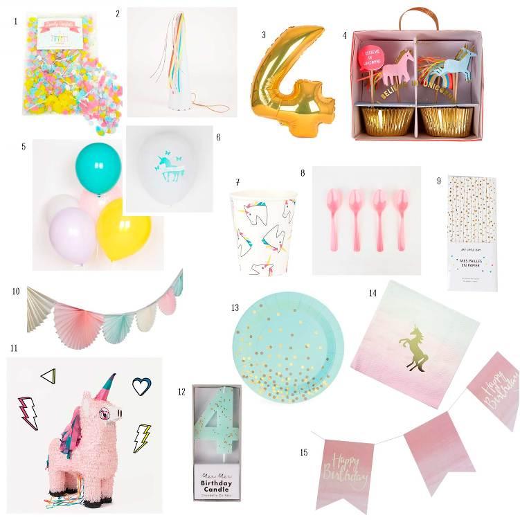 Ideas para decorar una fiesta infantil de unicornios for Decoracion para la pared de unicornio