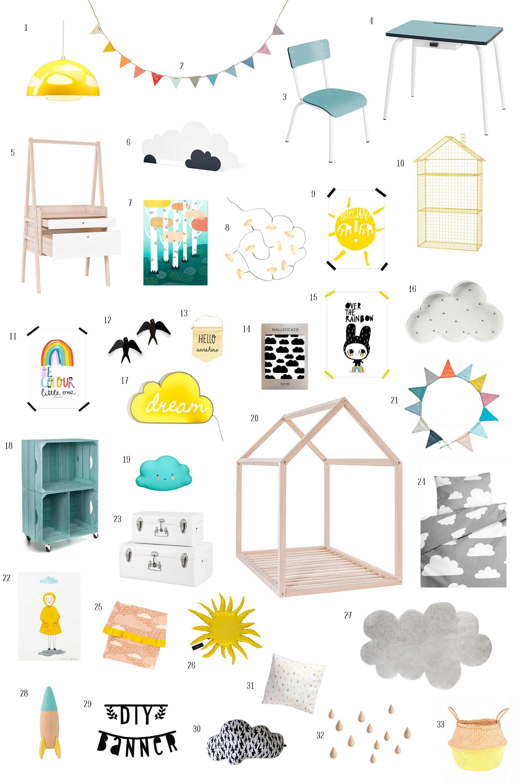 Habitación infantil temática»up in the sky»