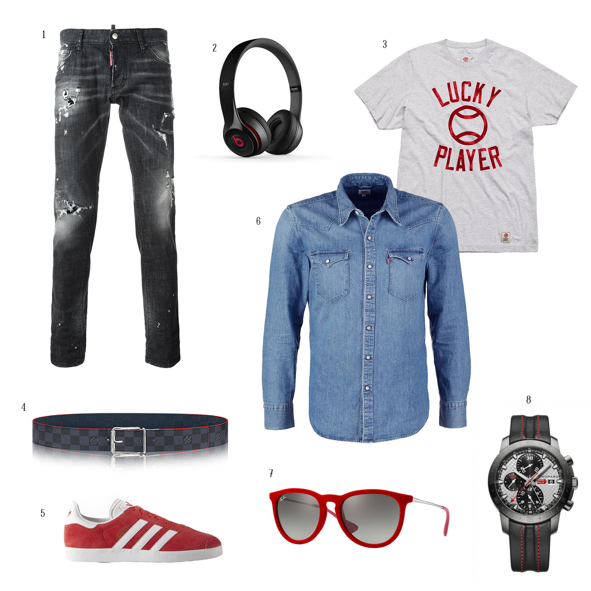OUTFIT «DENIM & RED» BY A.SERRÁN